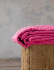 Μονή Κουβέρτα Πικέ 160x240 NIMA Habit Hot Pink