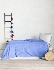 Μονή Κουβέρτα Πικέ 160x240 NIMA Habit Vivid Blue