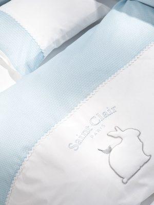 σετ σεντόνια κούνιας saint clair lapin blue