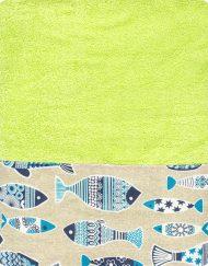Πετσέτα θαλάσσης 90x150 BOREA Piscous Λαχανί