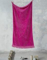 Πετσέτα θαλάσσης jacquard 90x160 NIMA Fishbone Fuchsia