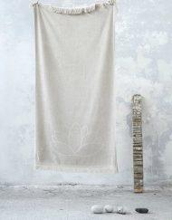 Πετσέτα θαλάσσης jacquard 90x160 NIMA Lotus Beige