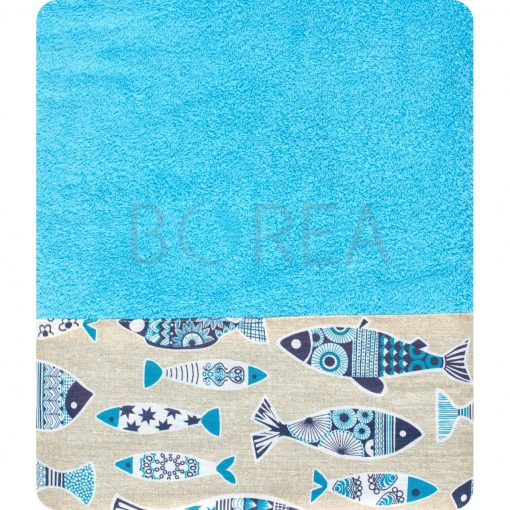 Πετσέτα θαλάσσης 90x150 BOREA Piscous Turquoise
