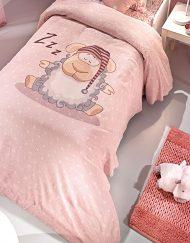 Παπλωματοθήκη Παιδική 160x220 Saint Clair Shaggy Pink