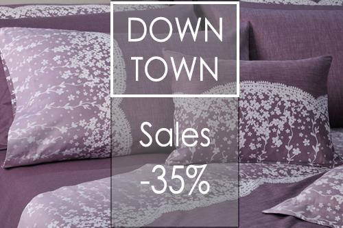 παπλωμα βαμβακι σατεν down town lace purple