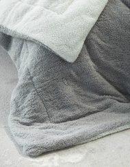 Κουβερτοπάπλωμα Υπέρδιπλο 220x240 NIMA Melt Light Grey/Dark Grey
