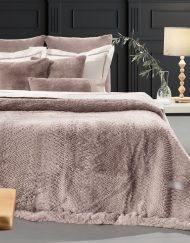 Κουβέρτα Υπέρδιπλη Γούνινη 220x240 Guy Laroche Crusty Old Pink
