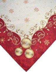 Τραβέρσα Καρέ Τραπεζοκαρέ Χριστουγεννιάτικα Στόφα Ισπανίας Lurex Joy Gold 670
