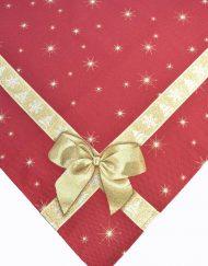 Τραβέρσα Καρέ Τραπεζοκαρέ Χριστουγεννιάτικα Στόφα Ισπανίας Lurex Joy Gold 671