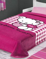 Κουβέρτα Ισπανίας Μονή 160x220 Hello Kitty Belpla 272