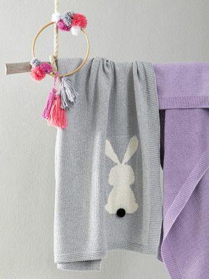 Κουβέρτα Λίκνου 75x110 NIMA Honey Bunny