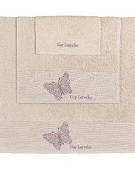 Πετσέτες Σετ 3 Τεμαχίων Guy Laroche Primavera Old Pink