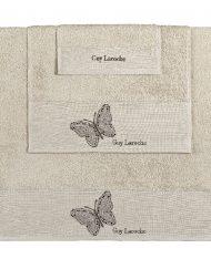 Πετσέτες Σετ 3 Τεμαχίων Guy Laroche Primavera Sand